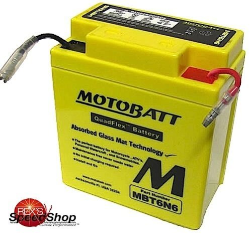 motobatt mbt6n6 6 volt sealed battery rex 39 s speed shop. Black Bedroom Furniture Sets. Home Design Ideas