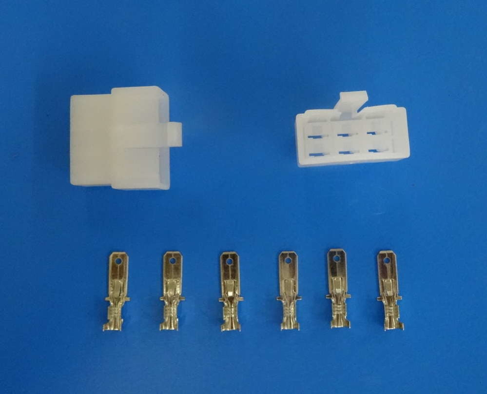 6 Way Male Locking Connector 6 3mm