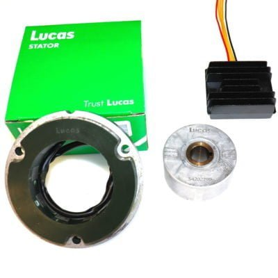 Lucas 3 phase RM24 12 volt alternator set from rex's speed shop