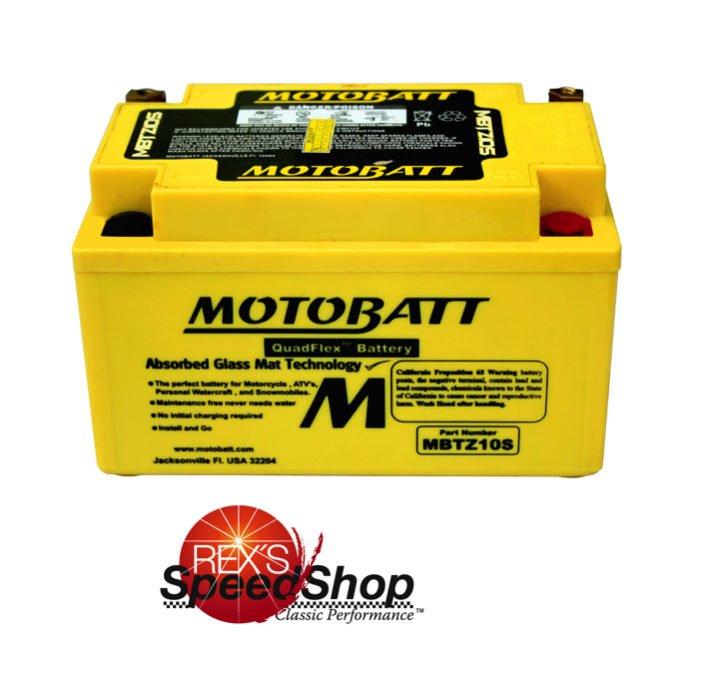 motobatt mbtz10s sealed agm battery rex 39 s speed shop. Black Bedroom Furniture Sets. Home Design Ideas