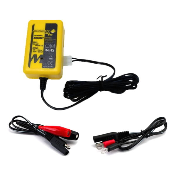 trickle charger with auot shut of for AGM, gel, sealed and wet motorcycle batteries, available from Rex's Speed Shop