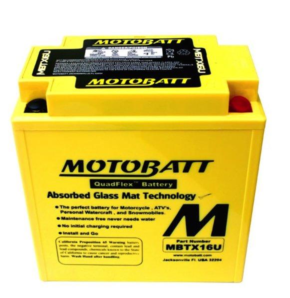 motobatt mbtx16u sealed agm battery rex 39 s speed shop. Black Bedroom Furniture Sets. Home Design Ideas