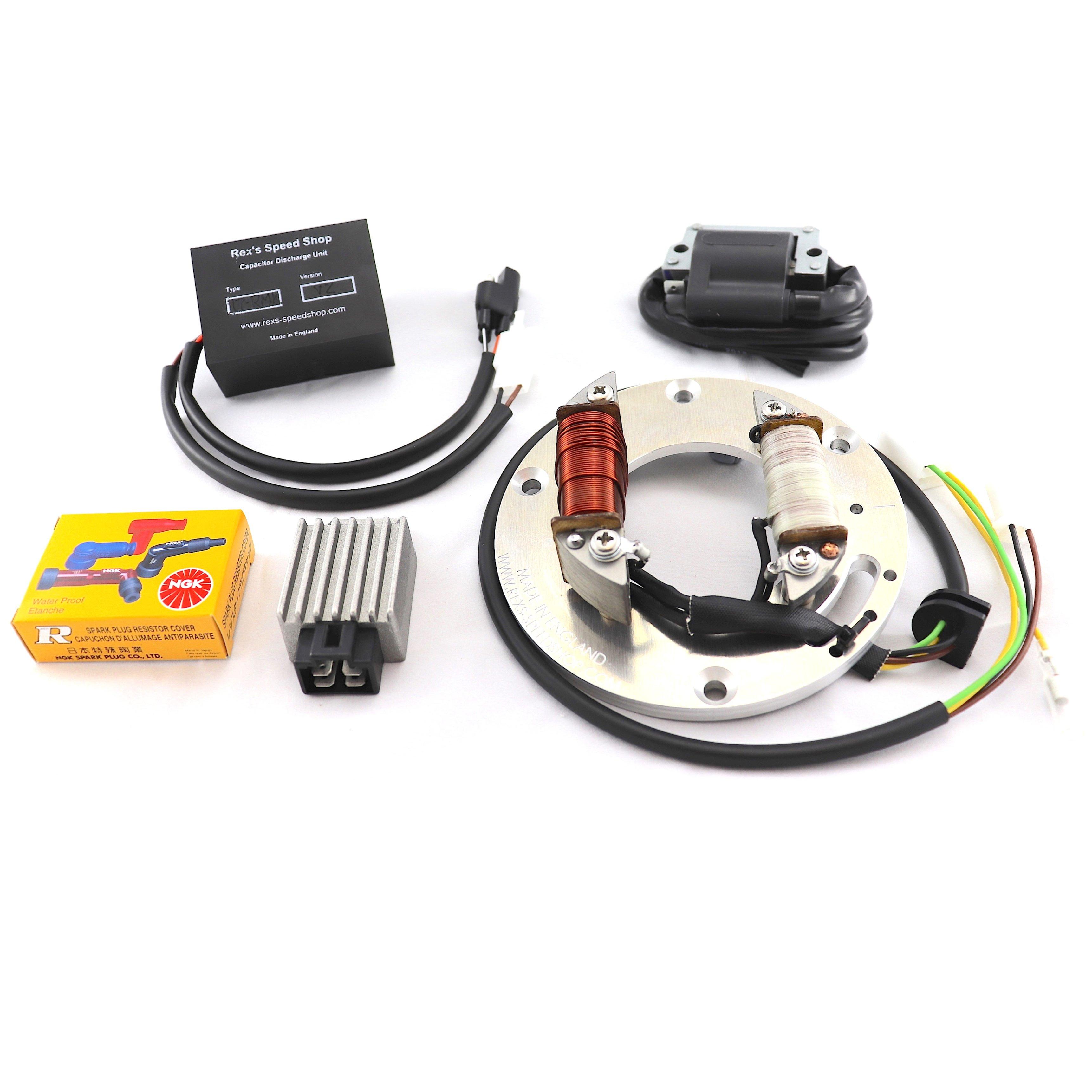 12 Volt Roadster DT360, DT400 B&C Electronic Ignition Yamaha Dt Wiring Diagram on