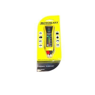 Pocket size 12 volt battery and alternator tester