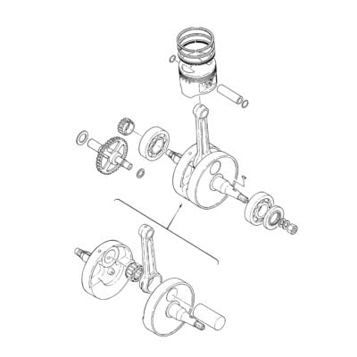 XT500 Engine Piston & Crankshaft