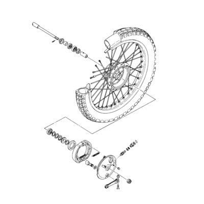 XT500 Wheels