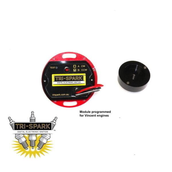 Vincent HRD electronic ignition magneto pazon tri-spark