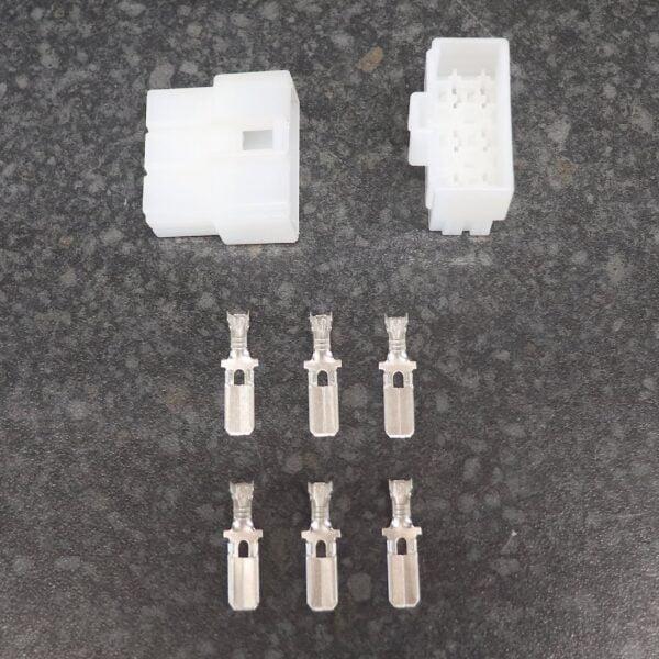 modern 6 way motorcycle block connector