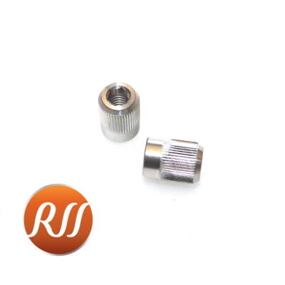 Pair of stainless steel exhaust nuts for SR500, XT500 & TT500 90179-08004